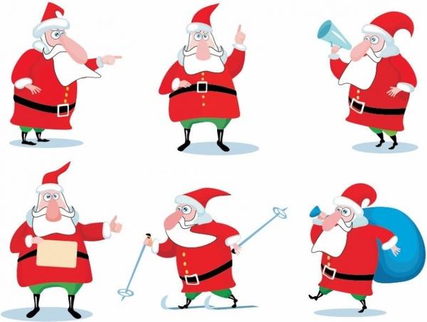 christmas_santa_claus_vector_set_148165